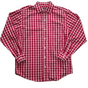 Denver Hayes Men's Classic Fit Red & White Shirt